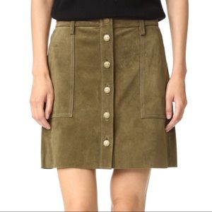 Current/Elliot Naval Suede Mini Skirt - with tags!